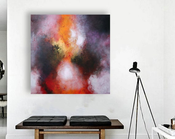 painting best gift / abstract art / wall art / abstract landscape / original painting / painting /  acrylic painting /  Free Shipping