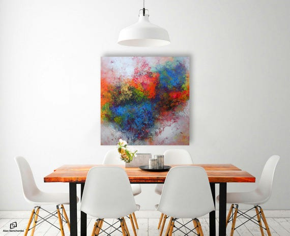 Abstract Painting straight from the artist's studio!   Free  Worldwide Shipping . 100% Hand-Made. Ready to hang .
