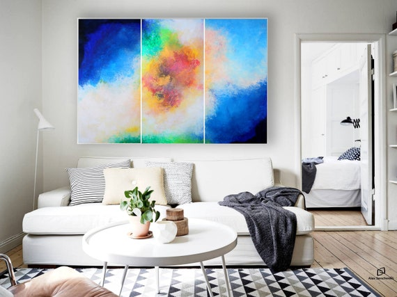XXLarge abstract painting by Alex Senchenko . Contemporary ART . painting on canvas . large abstract . Modern, original, wall art, abstract