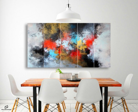 abstract painting . 5 in 1 . modern original paintings . large abstract painting . abstract original painting . abstract art. large painting