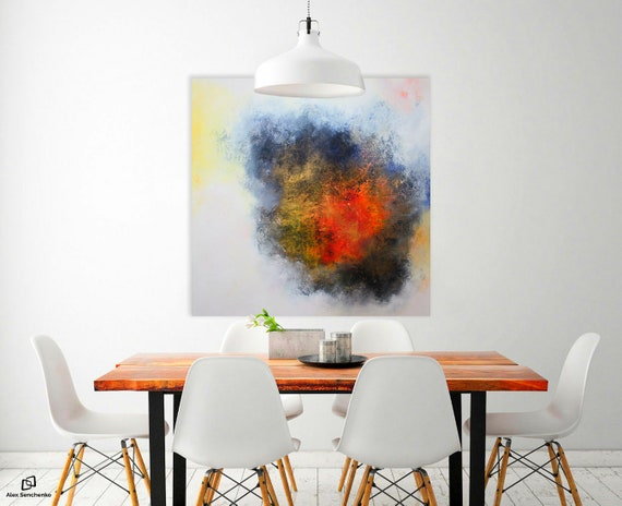 ABSTRACT PAINTING by Alex Senchenko . Contemporary ART . abstract art . abstract decor. abstract painting. abstract wall art. large abstract