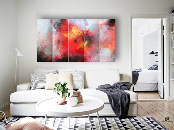 abstract painting . 5 in 1 . Contemporary Painting by Alex Senchenko ©. large abstract painting . abstract original painting . abstract art