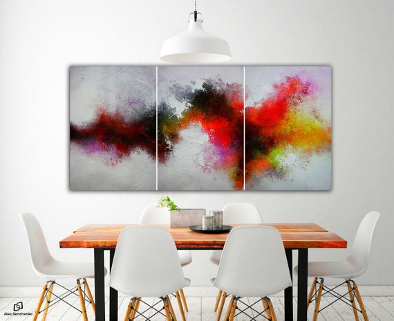 abstract expressionism / abstract triptych / abstract painting / contemporary art / abstract landscape / 3 in 1 / abstract / Wall ART