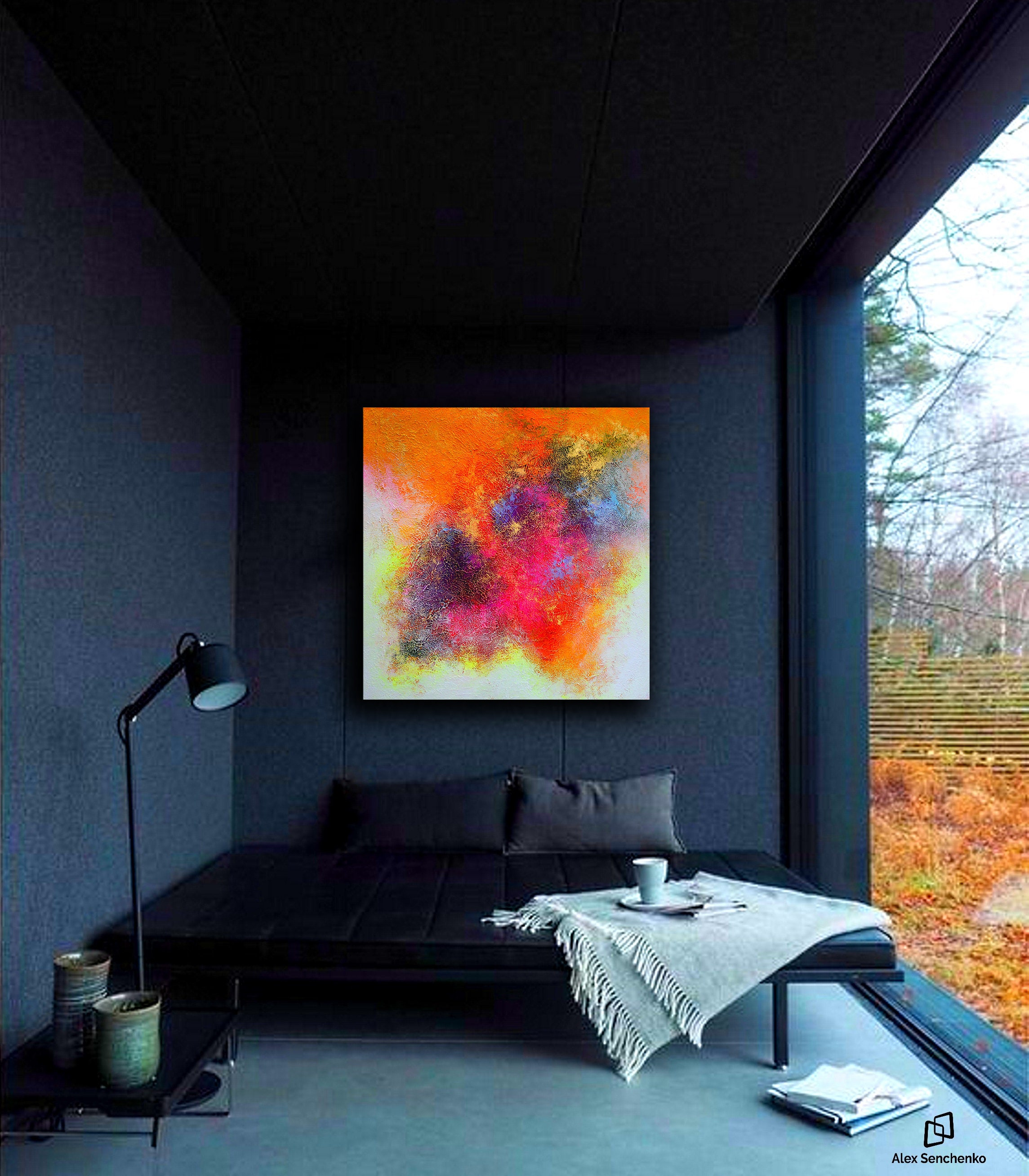 Abstract Painting, Large Painting on Canvas,Original Large
