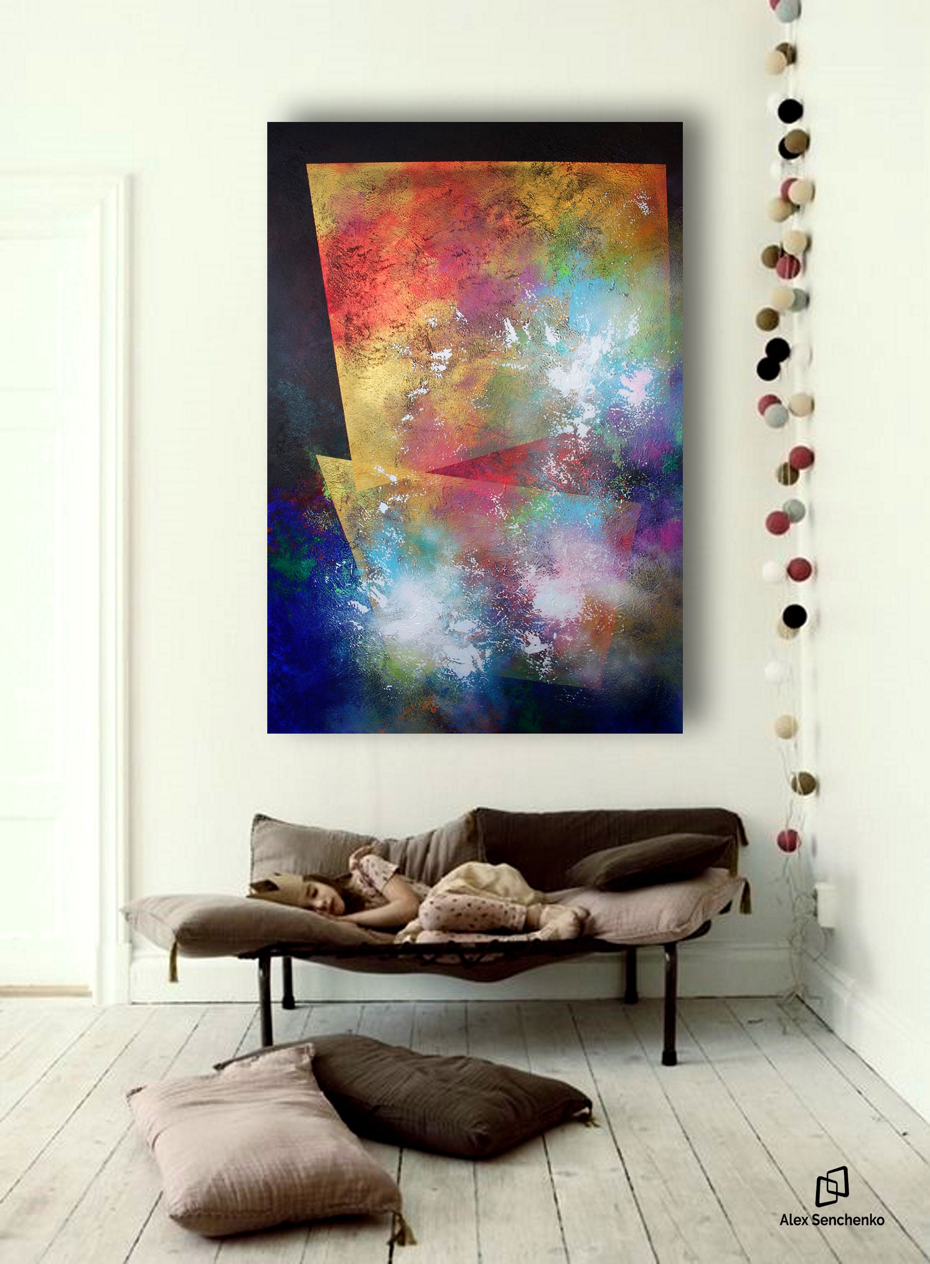 Abstract Original Paintings On Canvas . Large Abstract