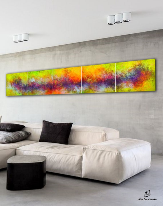 Giant abstract painting by Alex Senchenko. Contemporary ART. Modern, original, wall art . abstract painting on canvas . large canvas art