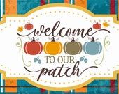 Fall Wreath Sign, Welcome to our Patch Wreath Sign, Personalize it by Pam, Wreath Signs, Door Decor