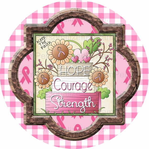 Signs for Wreaths Breast Cancer Awareness Sign Wood Wreath Sign Wreath Sign Wood Sign Wreath Attachment Door Signs Dispaly Sign