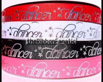 """5 yds 7/8"""" Dancer Dance Silver Foil 4 Colors Grosgrain Ribbon"""