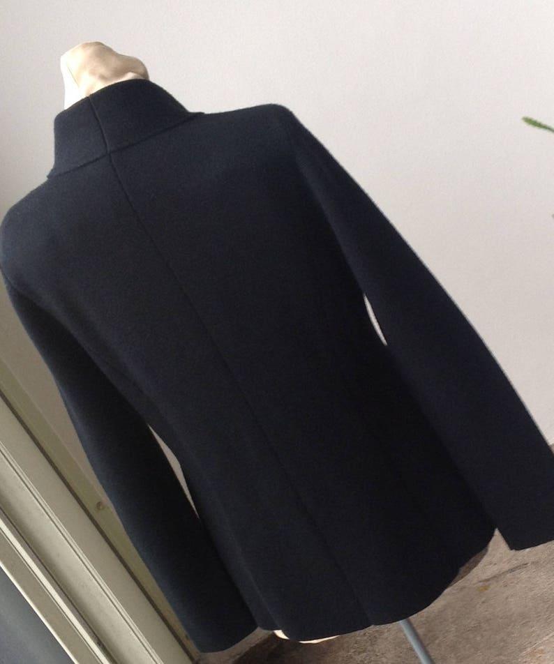 XL Tall Black knit wool cardigan Free Priority ship in US. Blazer style