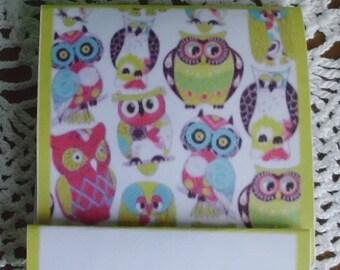 Owls, Mini Nail File Matchbook (1 QTY=2 NAILFILE BOOKS)