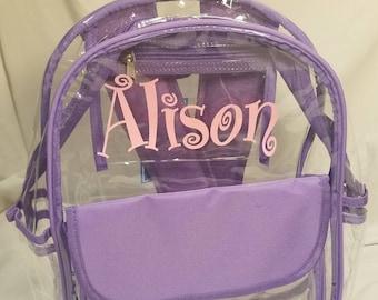 Clear Backpack Trim Pink 92ff9b91a5993