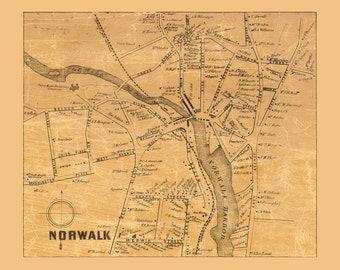 Fairfield ct map | Etsy