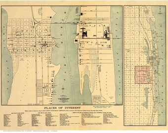 Lake Worth Florida Map.Lake Worth Map Etsy