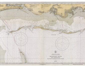 Cat map etsy dauphin island cat island biloxi pascagoula gulfport 1933 nautical old map reprint mississippi 80000 ac chart 1267 gumiabroncs Images