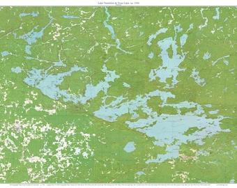 Lake Vermillion Minnesota Map.Lake Vermilion Map Etsy