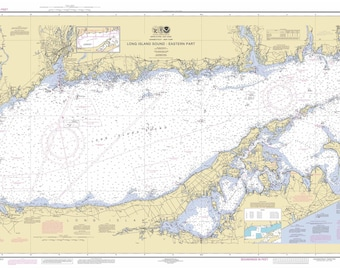 Long Island Sound 2017 Nautical Map Connecticut New York | Etsy