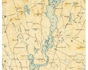 Old Hickory Lake Topographic Map.Old Hickory Lake 1957 Old Map Topo Nashville Cumberland River Etsy