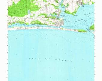 Fort Walton Map Etsy