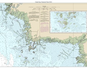 Map of cedar key | Etsy Cedar Keys Florida Map on