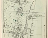 Huntington Amityville 1873 Old Map Long Island New York with Homeowner Names Reprint