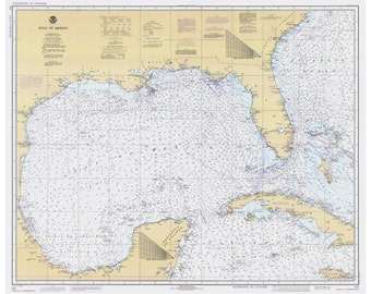 Map Of Florida And Cuba.Cuba Nautical Map Etsy