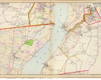 Newburgh New York Map.Newburgh Map Etsy