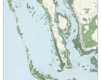 Map Of Sanibel Island Florida.Sanibel Island Map Etsy