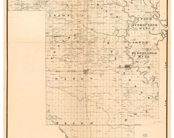 Arkansas county map | Etsy