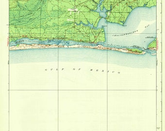 Mary Ester Florida Map.Fort Walton Map Etsy