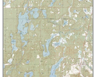 Pokegama Lake Map Etsy - Pokegama lake map