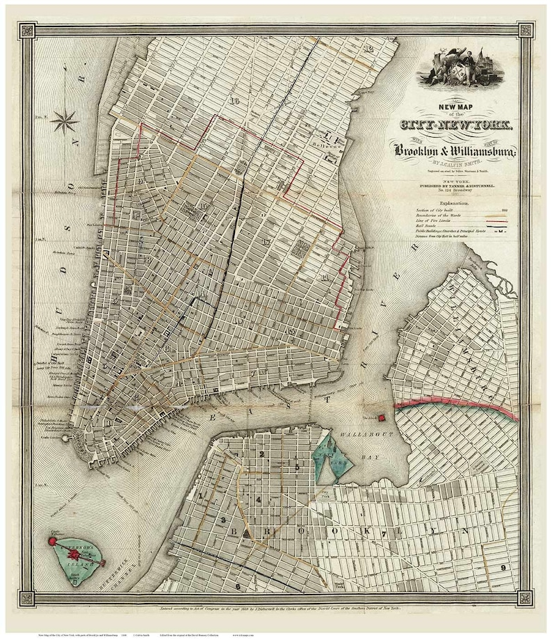 New York City & Part of Brooklyn and Williamsburg - 1840 Map by J. Key Map Of Williamsburg on map of charleston, map of fries, map of emerald mound, map of windsor heights, map of the brooklyn, map of west branch, map of cedar, map of university heights, map of firethorne, map of gordonsville, map of brookneal, map of mount weather, map of vassar, map of rockbridge county, map of cole county, map of white city, map of lawrenceburg, map of weatherly, map of providence place, map of james river bridge,