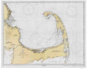 Cape Cod Bay - 1933 Nautical Map - 80000 AC Reprint - Chart 1208