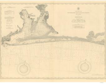 Choctawhatchee Inlet to Pensacola Entrance - 1898 Nautical Map Reprint - Florida Panhandle - 80000 AC Chart 186