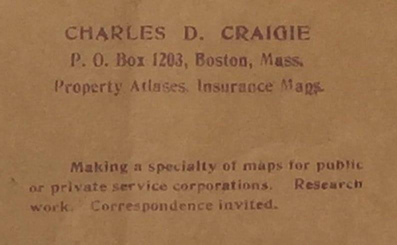 Franklin County antique 1871 map in original folder Charles Craigie  12 x 17 advertising  176 OMH
