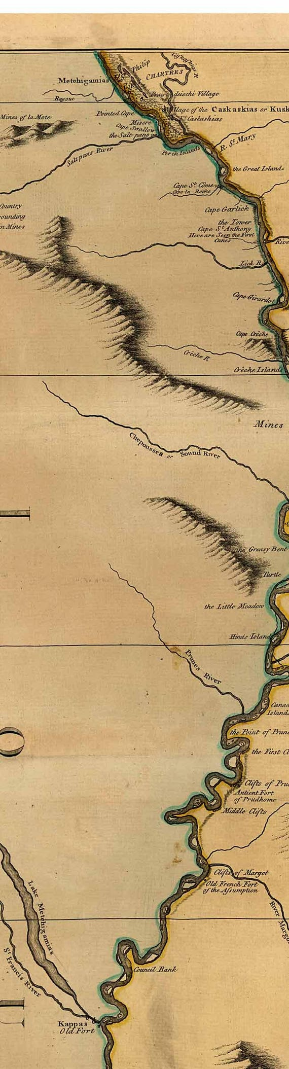 Mississippi River - 1765 - Old Map - Sayer - USA Regional Reprint
