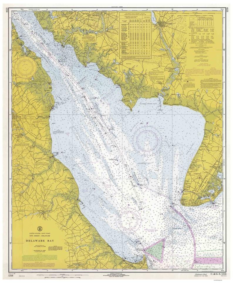 Delaware Bay Map on