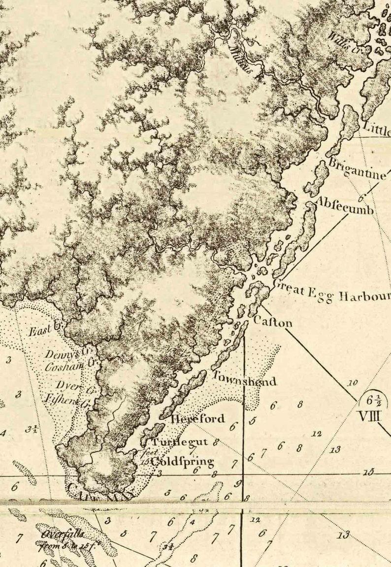 Map Of New York Revolutionary War.New York To North Carolina 1780 Map Revolutionary War Survey By British Navy Des Barres V3 23 Reprint Usa Regional
