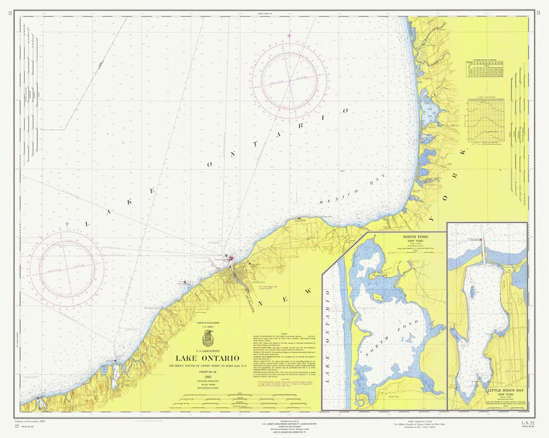 Stony Point to Port Bay, NY - 1965 Nautical Map including Oswego - on palmyra ny map, baldwinsville ny map, naples ny map, niagara falls ny map, lake champlain ny map, newark ny map, poughkeepsie ny map, webster ny map, wayne county ny map, lockport ny map, southampton ny map, elmira ny map, waterloo ny map, rye ny map, auburn ny map, bedford ny map, clermont ny map, lake erie ny map, utica ny map, clayton ny map,