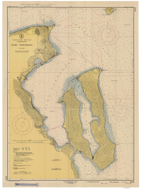 1948 World Map.Port Townsend 1948 Nautical Map Washington Reprint Pc Etsy