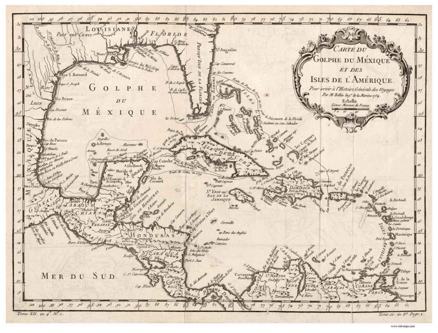 Caribbean 1754 Map by Bellin (French) - Reprint Cuba, Puerto Rico, on map of guiana, map of bahamas, map of south america, map of world, map of colombia, map of nicaragua, map of honduras, map of ecuador, map of canada, map of aruba, map of switzerland, map of puerto rico, map of romania, map of paraguay, map of yemen, map of caracas, map of bolivia, map of greece, map of bonaire,