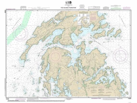 Fox Islands Thoroughfare 2014 Calderwood Neck North Haven Etsy