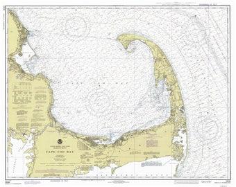 Cape Cod Bay - 1978 Nautical Map - 80000 AC Reprint - Chart 1208-13246