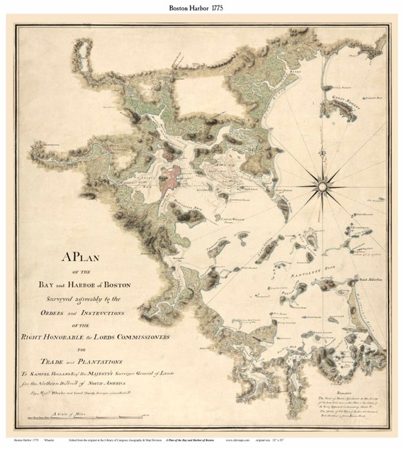 Boston Harbor, MA 1775 Map - Wheeler & Grant Reprint on ivcc map, ky map, dc map, ri map, nh map, indiana map, vt map, replica map, nm map, chicago map, gh map, fl map, oh map, usa map, ks map, ga map, mo map, mi map, minnesota map,
