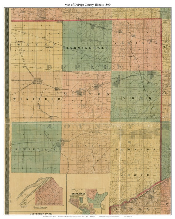 ge County Illinois 1890 - Old Wall Map Custom Reprint with Landowner on old maps of columbia county, old schools in st. croix county wi, old texas state map,