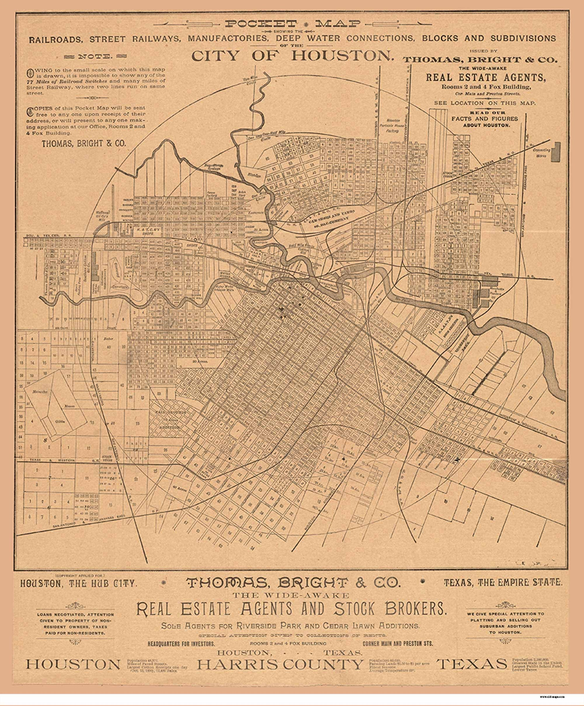 Old Map Of Texas.Dallas 1918 Texas Old Map Reprint