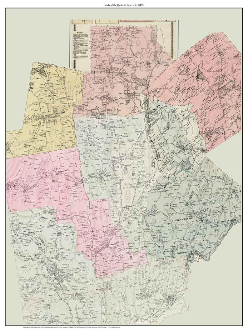 Quabbin - 1870s Map of Lands now Covered by Quabbin Reservoir Custom on liberty reservoir maps, winsor dam, j. a. skinner state park, wachusett reservoir maps, north quabbin trail maps, cape cod maps, chestnut hill reservoir maps, wachusett reservoir, glendale falls, massachusetts, lake mead maps, boston maps, chapel brook, quabbin aqueduct, connecticut river, new salem, harvard university maps, petticoat hill, goodnough dike, fort devens, the trustees of reservations, nantucket maps, bristol county, milford reservoir maps, martha's vineyard maps,