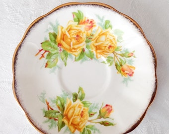 Tea Rose pattern Royal Albert saucer English bone china