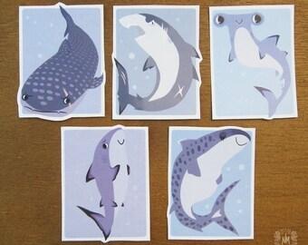 Shark Sticker Set