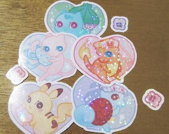 Flowery Pokemon Sticker Set